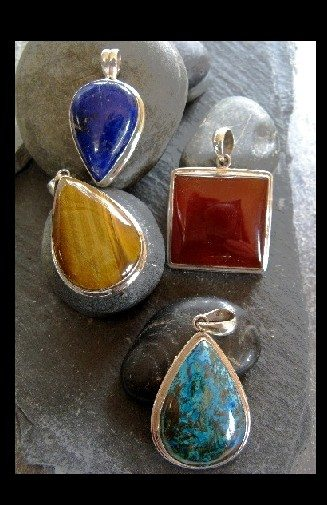 Sterling Pendant w/stone $26