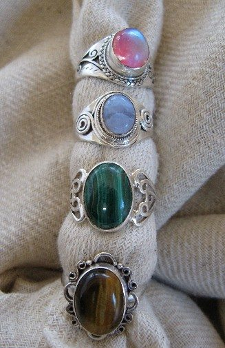 Sterling Ring w/stone $14-$16